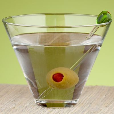 Stemless Martini Glass Set of 4