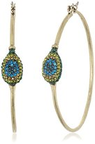 Lucky Brand Peacock Hoop Earrings