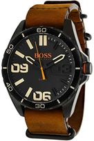 HUGO BOSS Orange 1513316 Men's Brown Leather Calfskin and Stainless Steel Watch