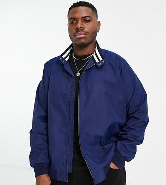 Burton Menswear Big & Tall harrington jacket in navy