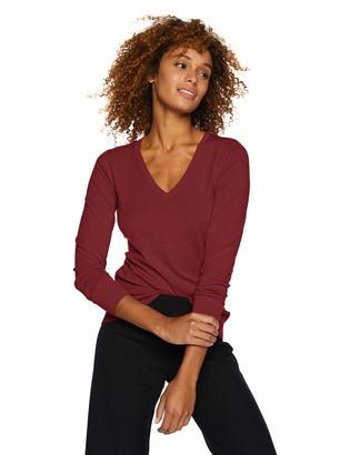 Lark & Ro Amazon Brand Women's Premium Viscose Blend Long Sleeve V-Neck Sweater