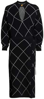 Proenza Schouler Knit Keyhole Wrap Dress