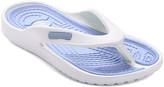 Star Bay Women's Flip-Flops Blue - Blue Contrast-Stitch Flip-Flop - Women