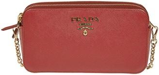 Prada Zip-around Chain Shoulder Bag