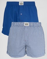 Levis Check Woven Boxers In 2 Pack Blue