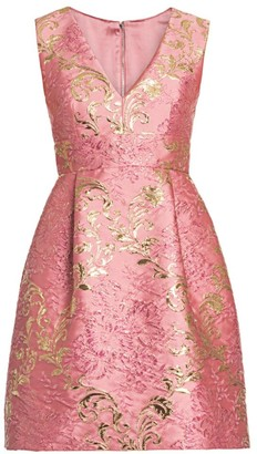 Dolce & Gabbana Sleeveless V-Neck Jacquard Dress