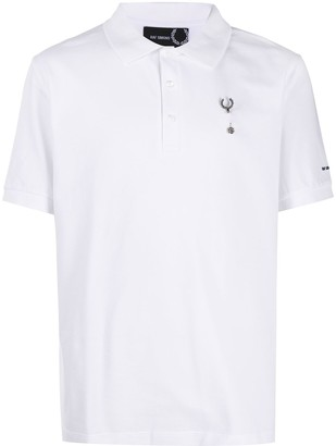 Fred Perry Logo-Brooch Cotton Polo Shirt