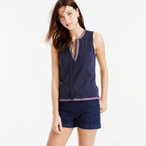 J.Crew Tank top with embroidered trim