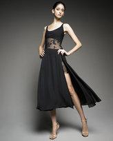 Sheer-Waist Dress