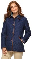 Chaps Women's Quilted Button-Down Jacket