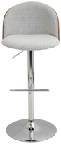 Lumisource Luna Height Adjustable Barstool with Swivel