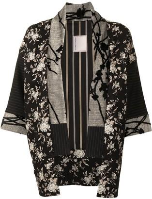 Antonio Marras Floral Embroidery Kimono