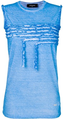 DSQUARED2 ruffle-trimmed tank top