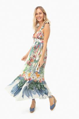 Carolina K. Sacred Garden Blue Penelope Dress