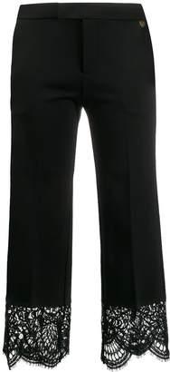 Twin-Set Twin Set crochet-hem cropped trousers