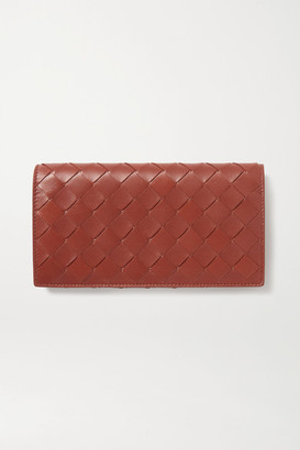 Bottega Veneta Intrecciato Leather Continental Wallet - Brown