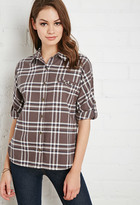 Forever 21 Buttoned Plaid Flannel Shirt