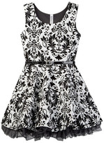 Beautees Flocked Dress (Big Girls)