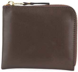 Comme des Garcons Brown Leather Wallet