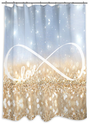 """Oliver Gal Infinite Love Sign"""" Shower Curtain, 71""""x74"""""""