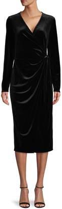 Halston H Velvet Faux Wrap Dress