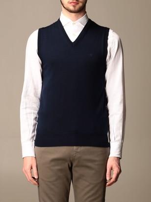 Brooksfield Brooksfied Vest In V-shaped Merino Wool