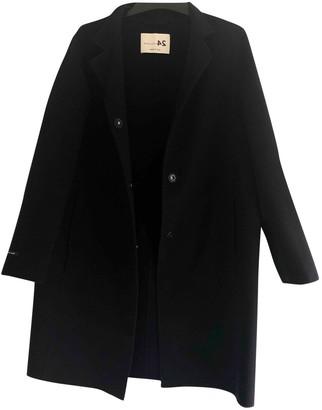 Manzoni 24 Navy Cashmere Coats