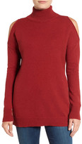 Halogen Cold Shoulder Turtleneck Sweater
