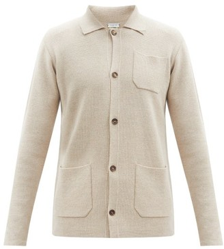 Caruso Patch-pocket Wool Cardigan - Beige