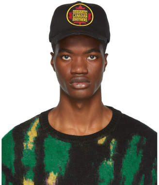 DSQUARED2 Black Canadian Brothers Baseball Cap