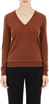 Barneys New York Women's Cashmere V-Neck Sweater-BROWN