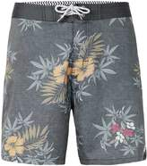 Globe Grey Faded Flower Print Shorts*