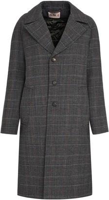 Plan C Checked Wool Coat