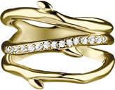 Shaun Leane Gold vermeil band cherry branch ring