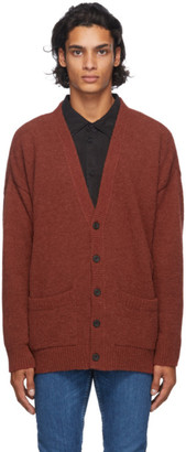 Nudie Jeans Red Alpaca Cardigan