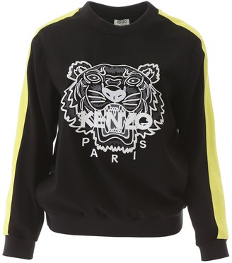 Kenzo Tiger Striped Sleeve Sweater