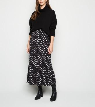 New Look Spot Midi Skirt