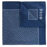 HUGO BOSS - Silk Pocket Square With All Over Digital Print - Open Blue
