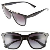 Valentino Women's 54Mm Cat Eye Sunglasses - Black Light/ Gold