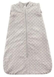 Hudson Baby Safe Sleep Wearable Dotted Mink Plush Sleeping Bag, 0-24 Months