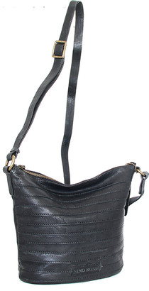 Nino Bossi Handbags Women's Handbags Black - Black Saige Leather Crossbody Bag