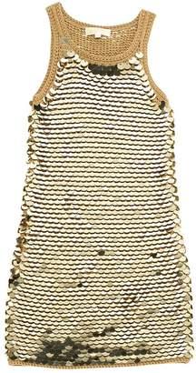 Michael Kors Gold Wool Dresses