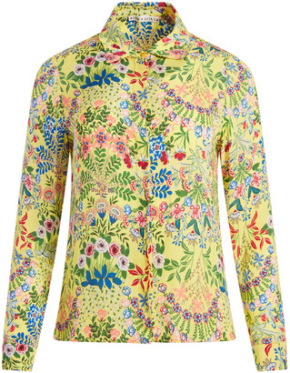 Alice + Olivia Willa Floral Printed Top