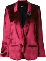 The Kooples jewelled brooch blazer - women - Silk/Polyamide/Polyester/Viscose - 1