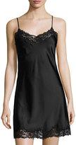 Josie Natori Sleek Lace-Trimmed Full Slip, Black