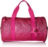 Bixbee Girl's Sparkalicious Glitter Duffle Bag, Ruby , Large, Pink