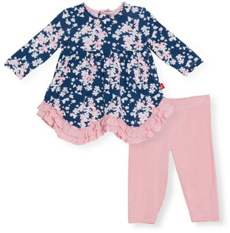 Magnetic Me Baby Girl's Aberdeen 2-Piece Floral Peplum Top & Leggings Set