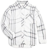Rails Little Girls' Hudson Open Plaid Twill Shirt - Sizes 4-12