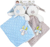 Nunu Blue Dog/Gray Bear Microfleece Blankets (2-Pack)