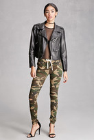 Forever 21 FOREVER 21+ Camo Print Distressed Pants